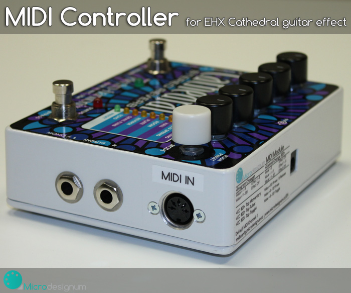 MIDI Controller for Electro Harmonix Cathedral Stereo Reverb