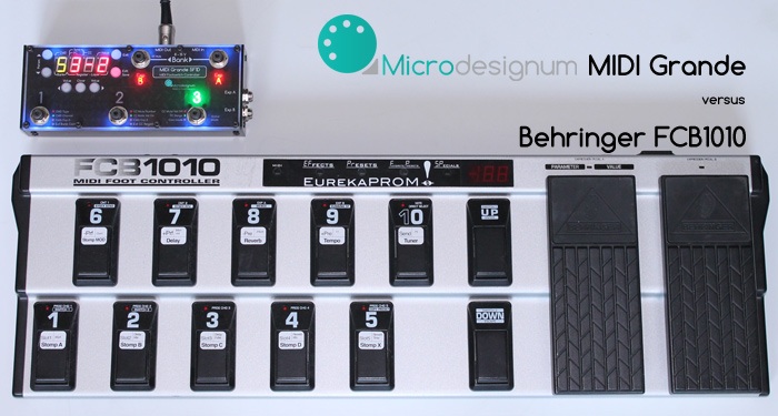 MIDI Grande - MIDI foot controller for guitar effects