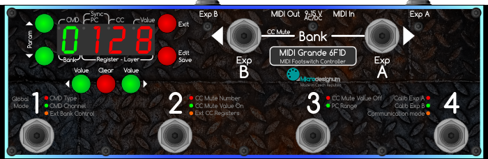Manual for MIDI Grande footswitch controller