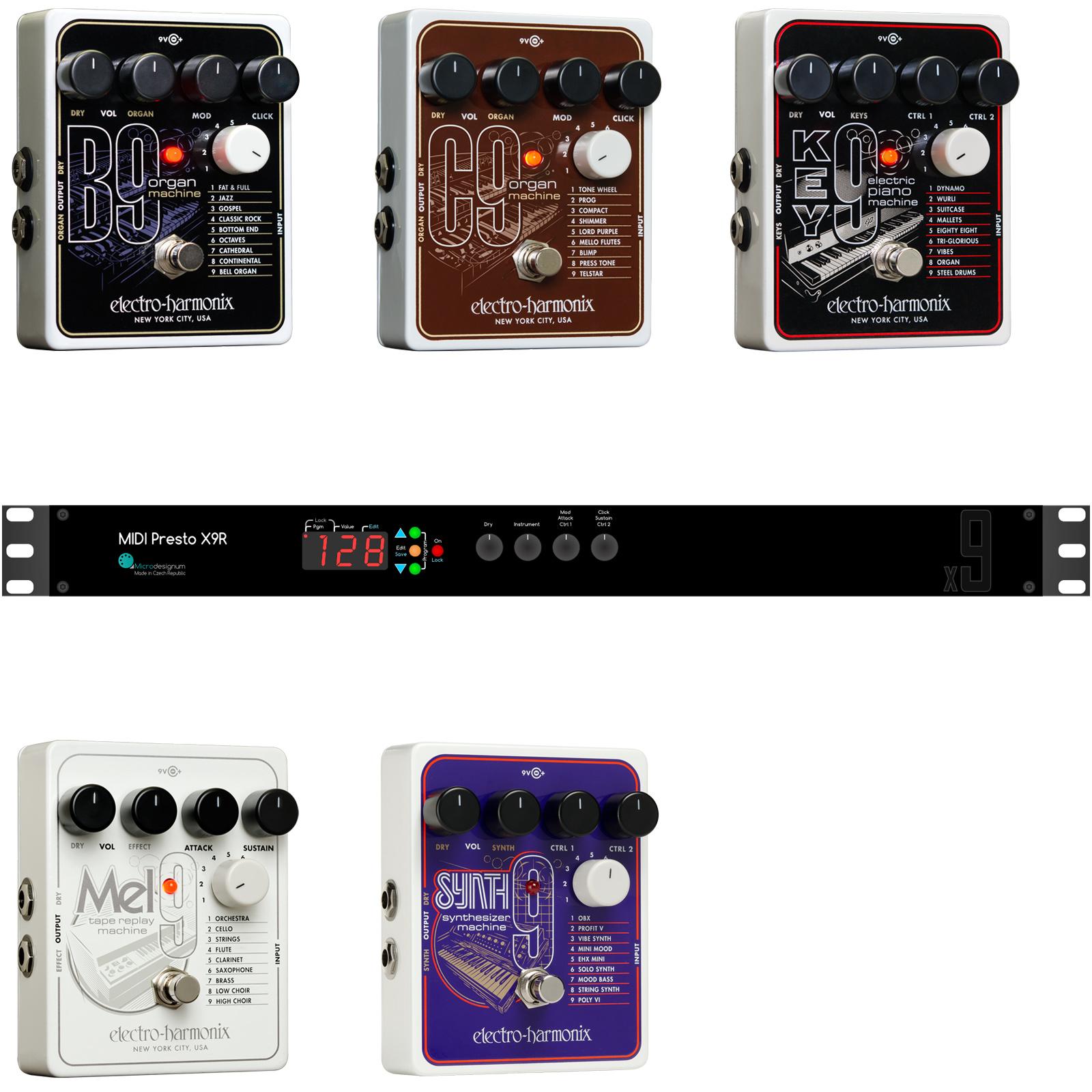 Install service: MIDI control for EHX x9 Rack
