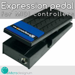 Expression pedal for MIDI controllers