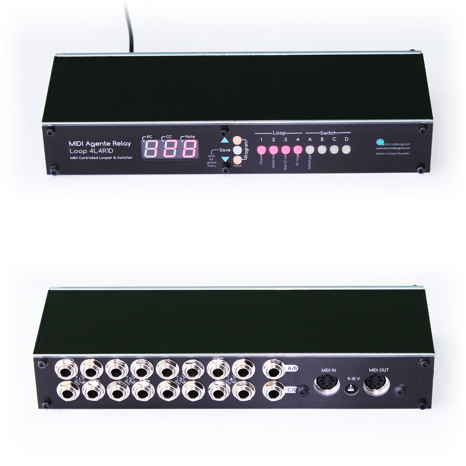midi switcher of 4 guitar effects loops and 4 amplifier channels. Black Bedroom Furniture Sets. Home Design Ideas
